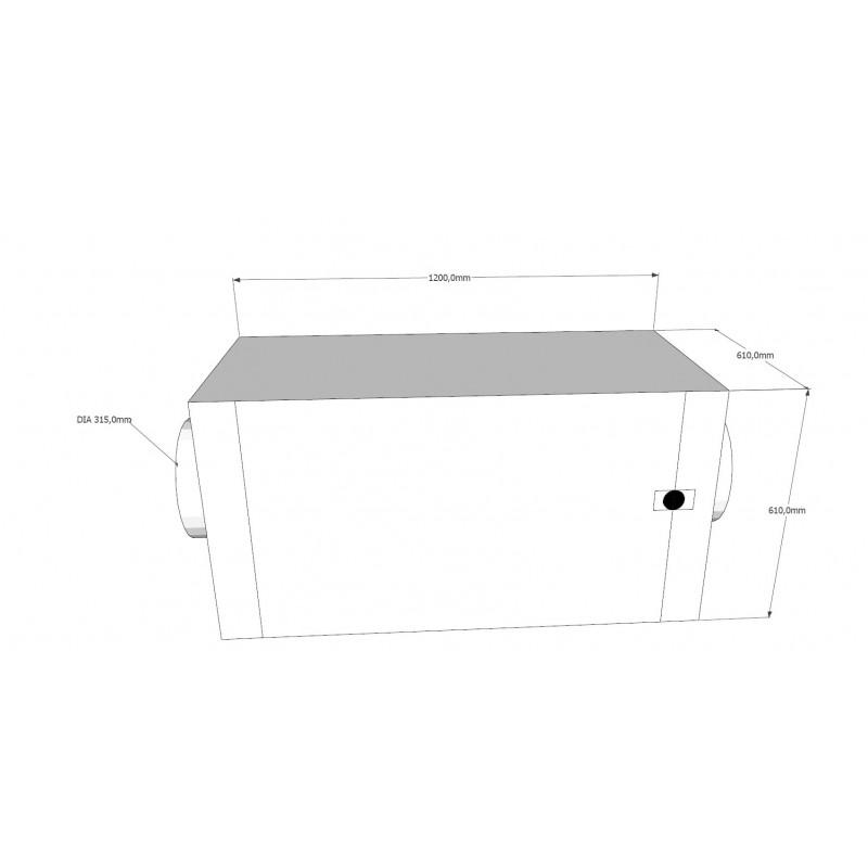 Filterskåp, 610x610x500